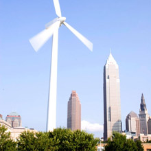 Great Lakes Science Center wind turbine
