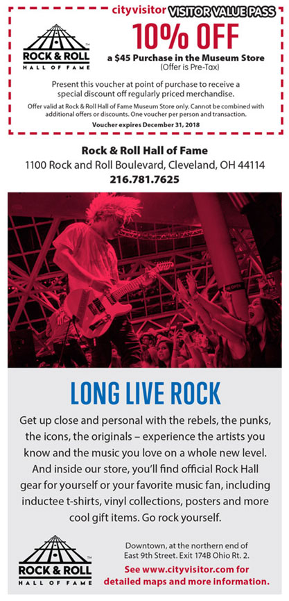 Rock and Roll Hall of Fame Visitor Value Pass coupon
