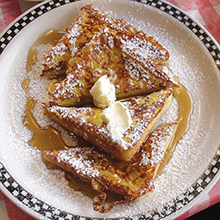 The Diner on 55th French toast
