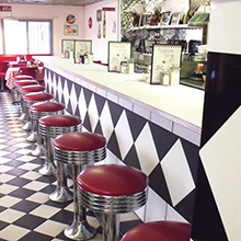 The Diner on 55th counter stools