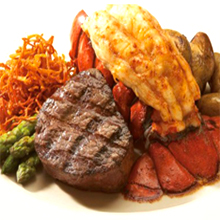 Dons Lighthouse steak and lobster
