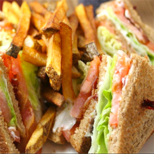 Lincoln Tap House club sandwich