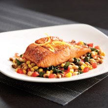 Mortons honey chili glazed salmon