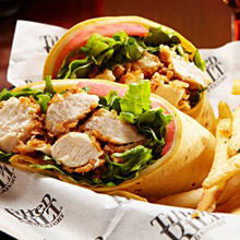 Tilted Kilt chicken wrap