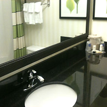 Fairfield Inn Canton bath area