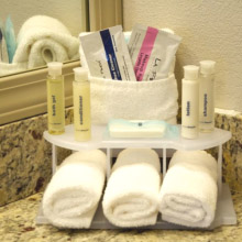 Holiday Inn Express toiletries